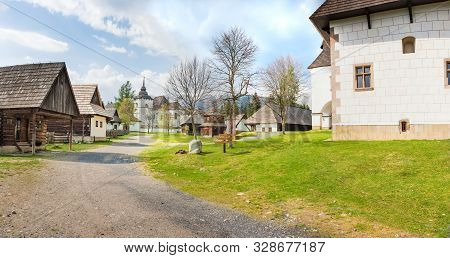 A Walk Through Traditional Village Pribylina In Liptov Region (slovakia) - Panorama