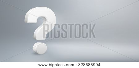 Realistic 3d Question Mark. Have A Question, Faq And Qa. Questions Sign, Question Answer Poster Or P