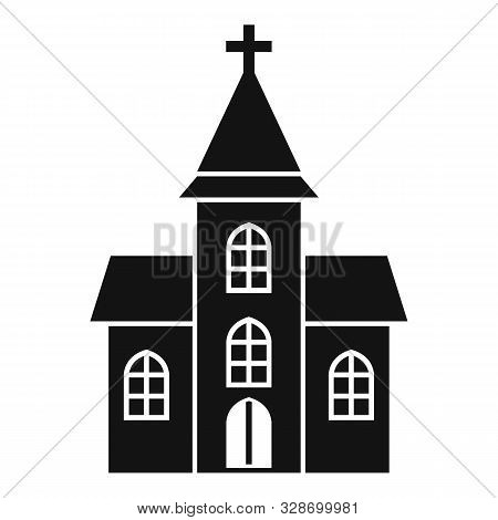Christian Cathedral Icon. Simple Illustration Of Christian Cathedral Vector Icon For Web Design Isol