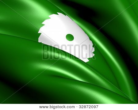 Flag of Audnedal Norway. Close Up. Front View. poster
