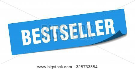 Bestseller Sticker. Bestseller Square Blue Isolated Sign