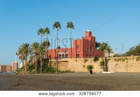 Arabic Castle Next To The Sea. Benalmádena. Málaga. Spain.