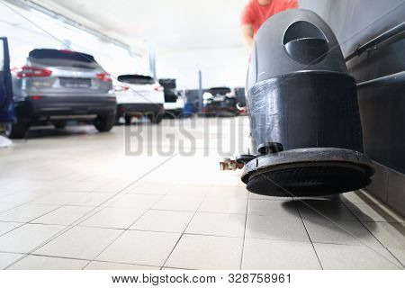 Close-up Of Special Utility For Ensuring Low Level Of Dirtiness In Modern Engineering Car Repairing