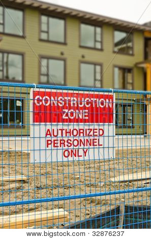 Sign with a message of Construction Zone