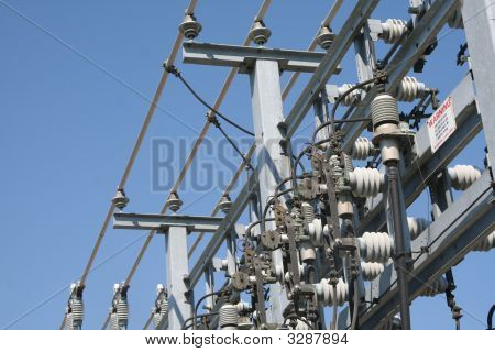 Power Lines At The Substation