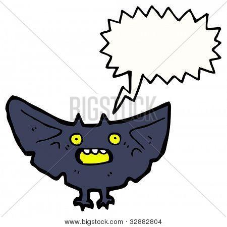 cartoon spooky bat poster