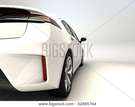 weiße Sportwagen