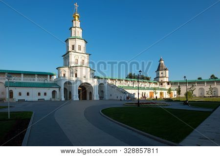 New Jerusalem, Istra, Russia - August 29, 2019: Gate Church Of The Lord's Entrance Into Jerusalem. R