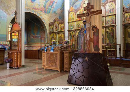Novyi Svet, Donetsk Region, Ukraine - October 06, 2019. The Interior Of The Temple In Honor Of The K