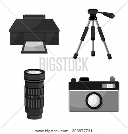Vector Design Of Professional And Accessories Icon. Set Of Professional And Work Stock Symbol For We