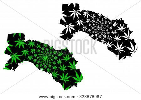 Chachoengsao Province (kingdom Of Thailand, Siam, Provinces Of Thailand) Map Is Designed Cannabis Le