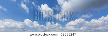 Panorama Blue Sky With Clouds For Backgrounds