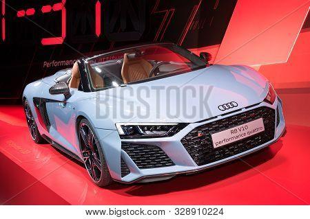 Frankfurt-september 19:  Audi R8 V10 Performace Quattro At The Frankfurt International Motor Show On