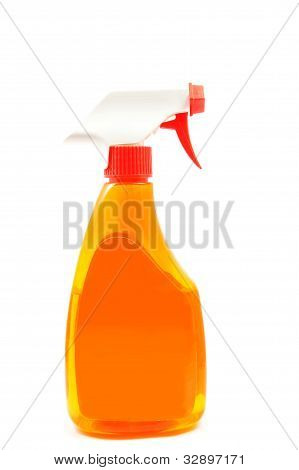 orange color of the water spray