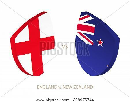 England V New Zealand, Icon For Rugby Tournament. Rugby Vector Icon.