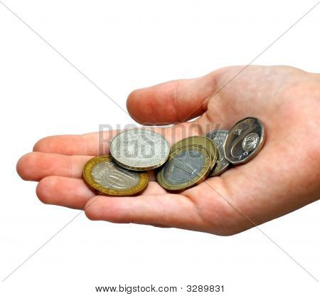 Coins In A Palm