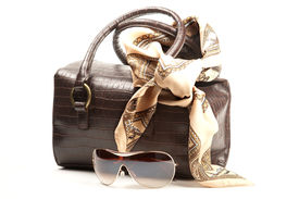 Brown Bag, Spectacles And Scarf