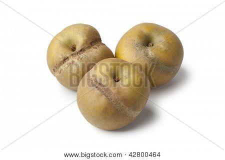 Patte de loupe apples on white background
