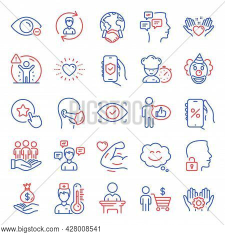 People Icons Set. Included Icon As Discounts App, Global Business, Messages Signs. Human Resources,