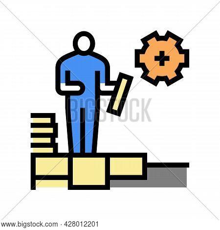 Master Tiler Color Icon Vector. Master Tiler Sign. Isolated Symbol Illustration