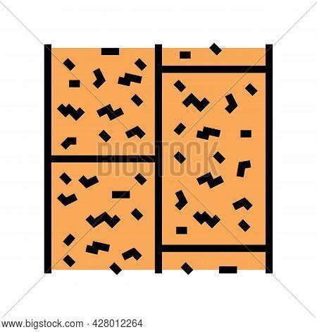 Cork Floor Color Icon Vector. Cork Floor Sign. Isolated Symbol Illustration