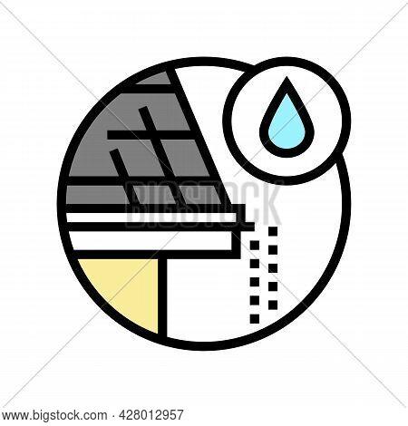 Drip Edge Color Icon Vector. Drip Edge Sign. Isolated Symbol Illustration