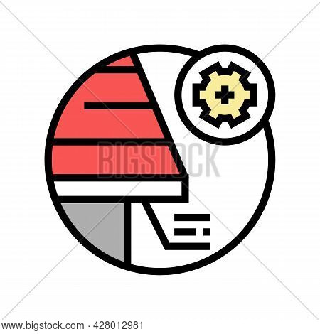 Soffit Roof Color Icon Vector. Soffit Roof Sign. Isolated Symbol Illustration