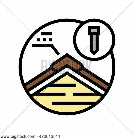Hip And Ridge Caps Color Icon Vector. Hip And Ridge Caps Sign. Isolated Symbol Illustration