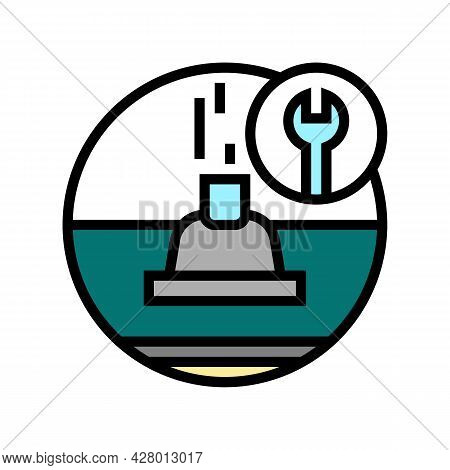 Roof Ventilation Color Icon Vector. Roof Ventilation Sign. Isolated Symbol Illustration