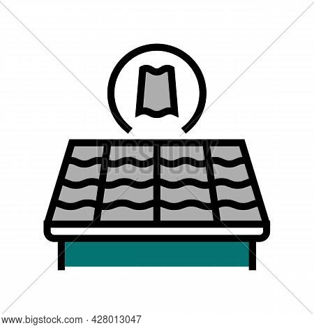 Slate Roof Color Icon Vector. Slate Roof Sign. Isolated Symbol Illustration