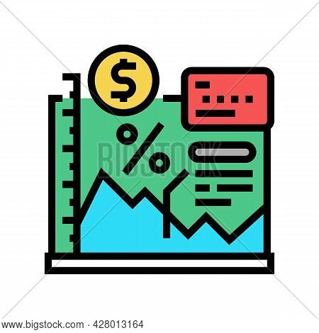 Economy School Lesson Color Icon Vector. Economy School Lesson Sign. Isolated Symbol Illustration