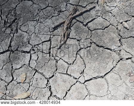 Cracked Earth Surface. Dry Soil. Dry Earth. Summer Dry Soil.