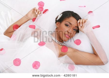 Beautiful African American Bridal Portrait