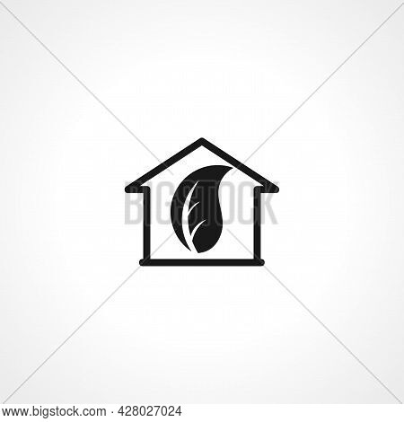 Eco House Icon. Eco House Simple Vector Icon. Eco House Isolated Icon.