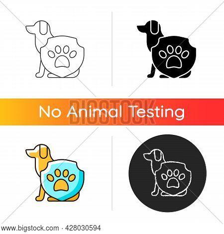 Animal Protection Gradient Icon. Pet Welfare Label. Cruelty Free Mark For Vegan Brand. Health Care F