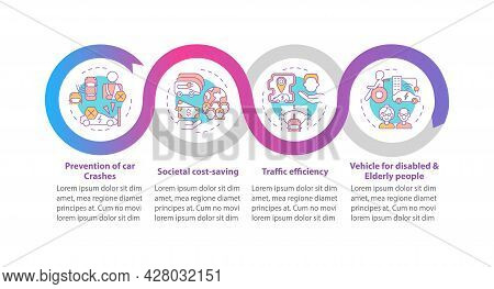 Ev Crashes Prevention Vector Infographic Template. Societal Safety Presentation Outline Design Eleme