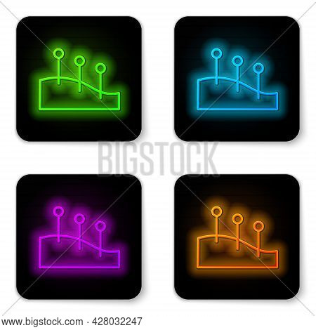 Glowing Neon Line Acupuncture Therapy Icon Isolated On White Background. Chinese Medicine. Holistic