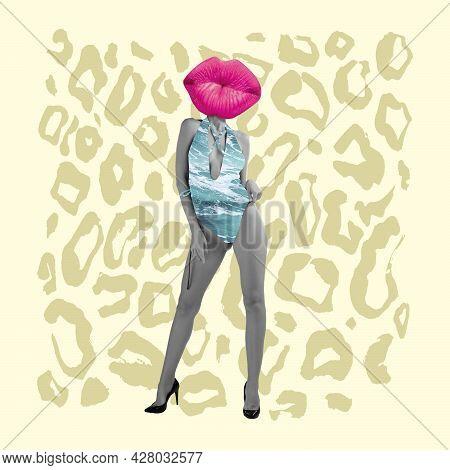 Modern Design, Contemporary Artwork, Zine Collage. Inspiration, Idea, Trendy Urban Magazine Style. W