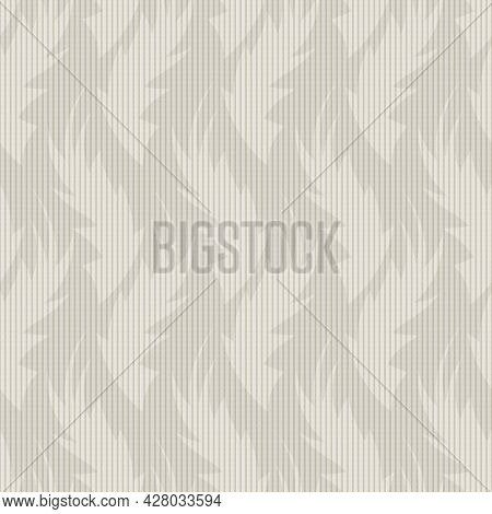 Hand Drawn Flame Shape Leaf Seamless Pattern. Neutral Blended Vector Vintage Check Retro Foliage Bac