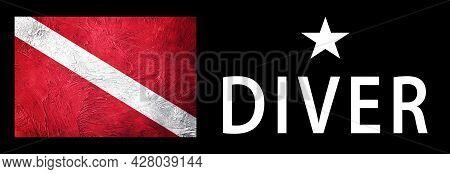 One Star Diver, Diver Down Flag, Scuba Flag, Scuba Diving