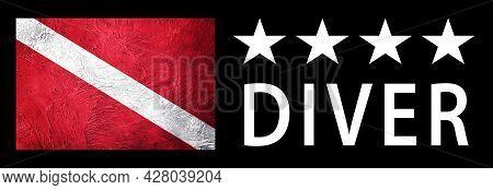 Four Star Diver, Diver Down Flag, Scuba Flag, Scuba Diving