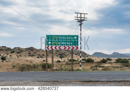 Directional Sign At Schoombee On Road R56 Between Middelburg And Steynsburg In The Eastern Cape Prov