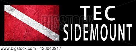 Tec Sidemount, Diver Down Flag, Scuba Flag, Scuba Diving