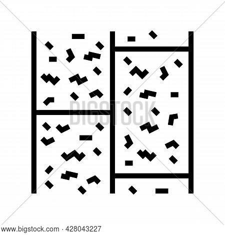 Cork Floor Line Icon Vector. Cork Floor Sign. Isolated Contour Symbol Black Illustration