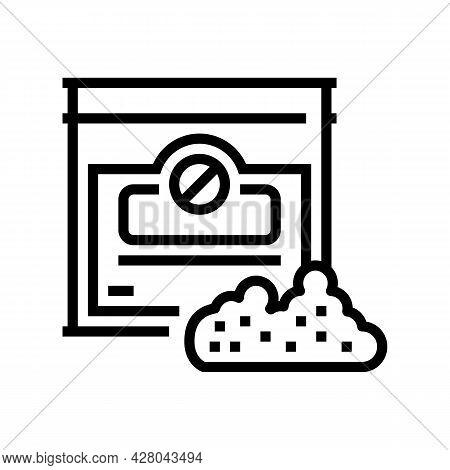 Nicotine-free Tobacco Line Icon Vector. Nicotine-free Tobacco Sign. Isolated Contour Symbol Black Il