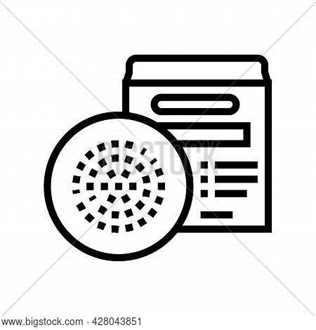 Hookah Foil Line Icon Vector. Hookah Foil Sign. Isolated Contour Symbol Black Illustration