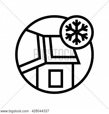 Ice And Water Shield Line Icon Vector. Ice And Water Shield Sign. Isolated Contour Symbol Black Illu
