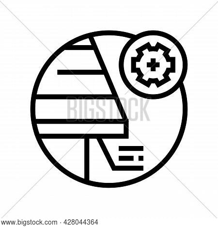 Soffit Roof Line Icon Vector. Soffit Roof Sign. Isolated Contour Symbol Black Illustration