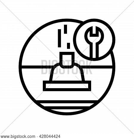 Roof Ventilation Line Icon Vector. Roof Ventilation Sign. Isolated Contour Symbol Black Illustration