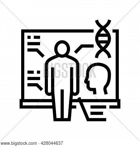 Anatomy School Subject Line Icon Vector. Anatomy School Subject Sign. Isolated Contour Symbol Black